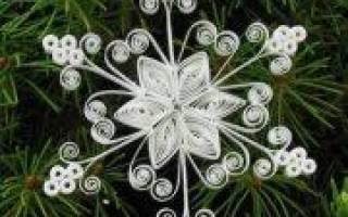 Квиллинг снежинка: видео для лучшего понимания техники