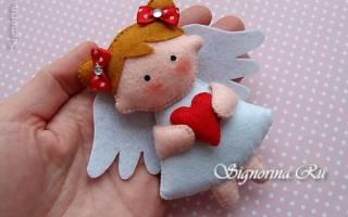 Ангел из фетра: как сделать самим оригинальную новогоднюю игрушку