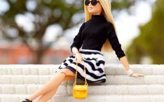Платье для куклы барби своими руками