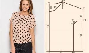 Блузка без выкройки своими руками: разбираем основные техники