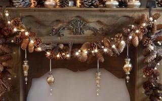 Композиции из шишек: уютное декорирование