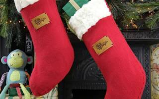 Рождественский носок своими руками из мягких и натуральных материалов