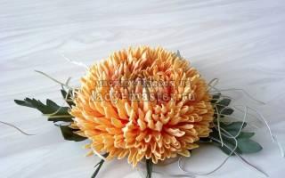 Хризантема из фоамирана: создаем цветочный шедевр