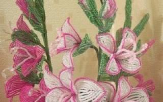 Бисероплетение гладиолусов со схемами: изучаем технику дугового плетения