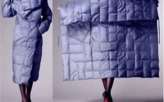Выкройка пальто с цельнокроеным рукавом из модного журнала