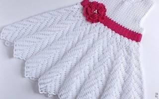 Белое платье для девочки: особенности вязания крючком и спицами