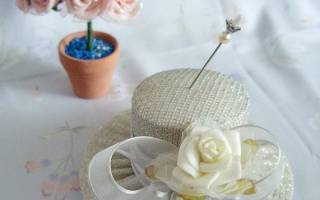Игольница «шляпка» своими руками: пошаговая инструкция изготовления из ткани и пряжи