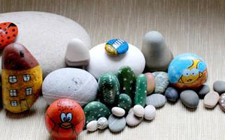 Роспись на камнях: мастер-класс создания оригинальных поделок
