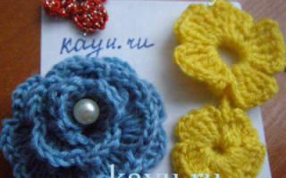Цветок крючком: видео по простейшему вязанию