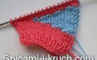 Укороченные ряды спицами: подробный разбор вязания