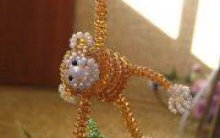 Как из бисера сплести обезьяну: простые объяснения и уроки