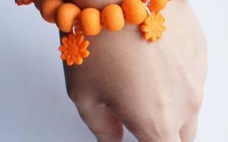 Браслет из полимерной глины: мастер-класс недорогих ярких украшений