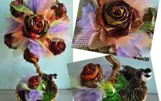 Мастер-класс «топиарий из осенних листьев»: используем природные материалы