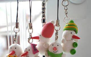Снеговик из полимерной глины: два способа создания новогоднего украшения