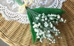 Ландыш из бисера: учимся плести главный цветок осени