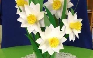 Нарцисс из бумаги: простая поделка для детского творчества