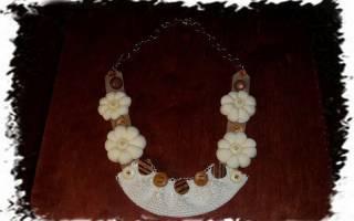 Ожерелье из ткани своими руками: простые уроки для рукодельниц