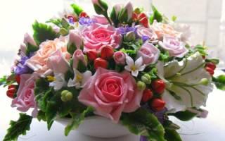 Цветы из холодного фарфора своими руками на примере розы и анютиных глазок