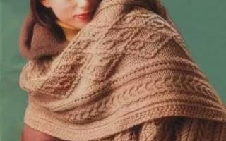 Палантин спицами со схемами и описанием: модная и практичная альтернатива простому шарфу