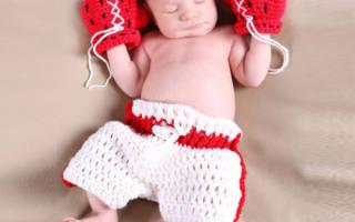 Царапки для новорожденных своими руками с помощью крючка и спиц
