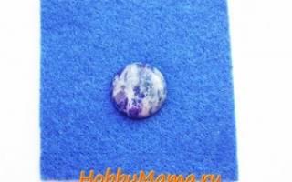 Оплетение кабошона бисером: камень в искусном обрамлении
