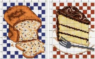 Вышивка крестом часов с бесплатными схемами для уютной кухни