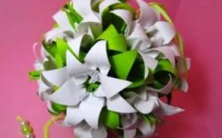 Кусудама для начинающих: схемы сборки гвоздики и лилии