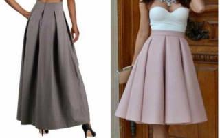 Выкройка юбки в складку: оригинальное в простом