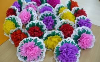 Поделки из гофрированной бумаги своими руками: роскошный букет цветов
