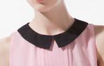 Выкройка воротника для платья: различные варианты моделей