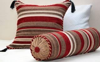 Подушка-валик своими руками для создания неповторимого интерьера