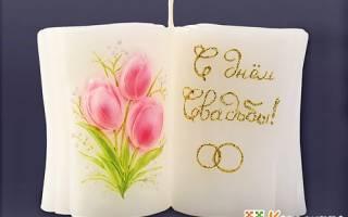 Свадебная свеча своими руками в подарок для венчания