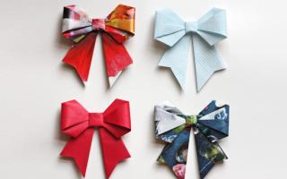 Оригами бантик: украшение для мужчины своими руками