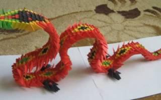 Дракон (модульное оригами): изучаем новую технику