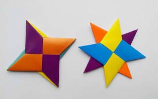 Оригами сюрикен: игрушки для настоящих поклонников наруто