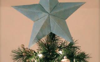 Оригами звезда из бумаги для новогодней елки и милой детской комнаты