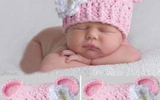 Бантик крючком: схема вязания шапочки для новорожденных