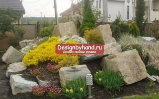 Клумба из камней своими руками: урок по украшению загородного участка