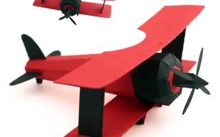 Самолет из картона: делаем простой воздушный аппарат