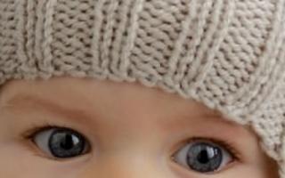 Вязаная шапочка для новорожденного спицами: утепляем малыша вместе