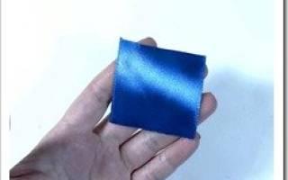 Круглый лепесток канзаши: нежные и красивые лепестки из лент