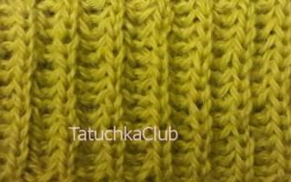 Английская резинка спицами: изучаем нюансы вязания