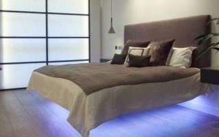 Парящая кровать своими руками в интерьере спальни