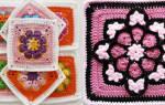 Афганский квадрат крючком со схемами: от простого к сложному