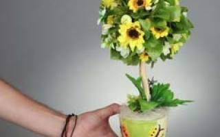 Мастер-класс по топиарию из органзы: как сделать украшения для влюбленных самостоятельно