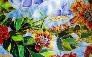 Мастер-класс по росписи по стеклу витражными красками для начинающих