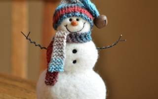 Снеговик своими руками: различные варианты рукоделия