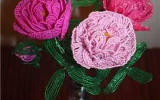 Пион из бисера: вечная красота в доме