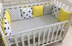 Бортик в детскую кроватку своими руками: технология пошива различных бамперов