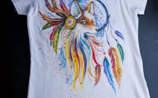Акриловые краски для ткани: учимся разрисовывать футболку